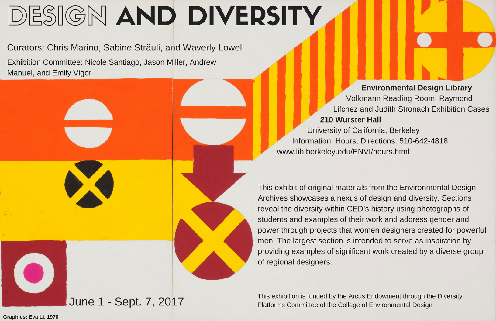 Design and Diversity Exhibition Poster