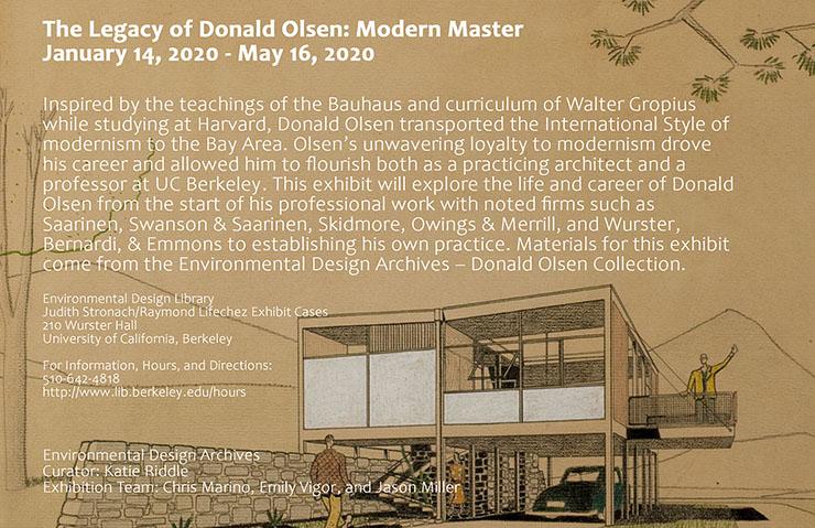 Legacy of Donald Olsen Exhibit Poster