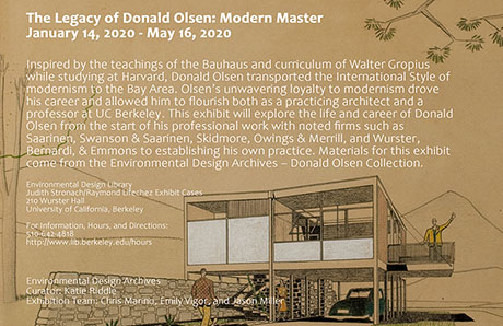 Legacy of Donald Olsen Exhibition Poster