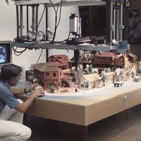 Appleyard working with model