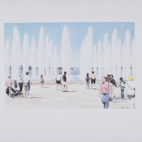 National Peace Garden: Peace Fountain illustration