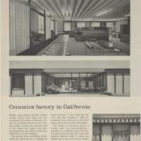 Ceramics Factory in California, Architectural Forum Article