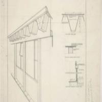 Detail of truss design for the Heath Ceramics factory