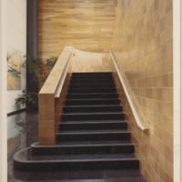 Ceramic handrail in the LA Times Northridge Facility