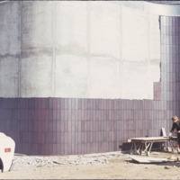 Tile installation at the Pasadena Art Museum