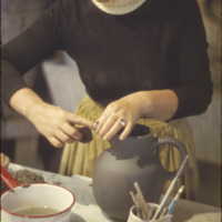 Edith Heath working on a pitcher