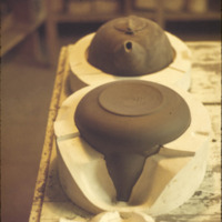 Teapot in a plaster mold