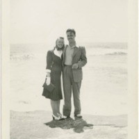 Brian and Edith Heath on the Shores of Lake Michigan
