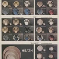 Heath Ceramics tri-fold dinnerware brochure