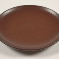 Coupe salad plate, redwood glaze