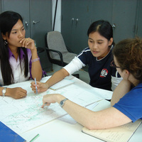 IURD, Thailand Studio, students with drawing<br />