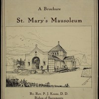 Brochure for St. Mary Mausoleum