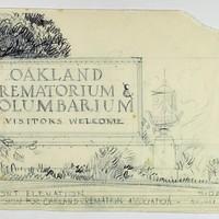 Entrance Sign for Oakland Cremation Association