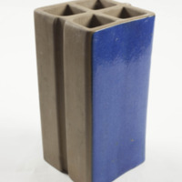 Extruded Tile Block, dark blue glaze