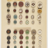 Panel of handmade buttons