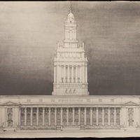 Elevation for the San Francisco City Hall Competition