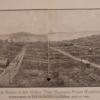 Panorama of the San Francisco Ruins from Russian Hill to Telegraph Hill