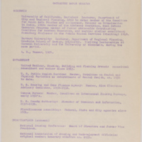 Personal Papers 1914-1979, Biographical information: Curriculum Vitae 1960