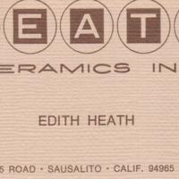 Edith Heath's business card