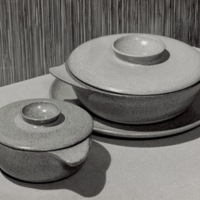 Small and Large Casseroles with lids