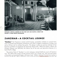 """Zanzibar--A Cocktail Lounge"" 1 of 3"