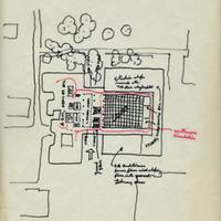 Wurster Hall, schematic sketch<br />