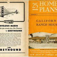 25 home plans of California Ranch Houses