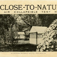 Close-To-Nature Open Air Collapsible Tent Houses: manufactured by the Close-To-Nature Company