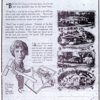 Ida McCain caricature in Baldwin & Howell advertisement