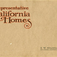 Representative California Homes, a book of fifty one and two-story medium cost homes with plans