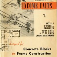California Income Units Designed for Concrete Blocks or Frame Construction