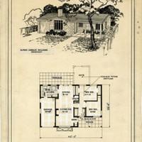 Plan 105, 4 ½ rooms, Calif. modern