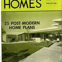 25 Post Modern Home Plans: complete with pictures, floor plans, materials, square foot areas; new ideas by famous architects