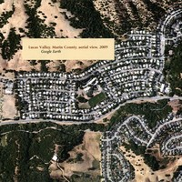Lucas Valley, Marin County, aerial view