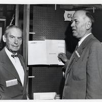 William W. Wurster and Walter Gropius<br />